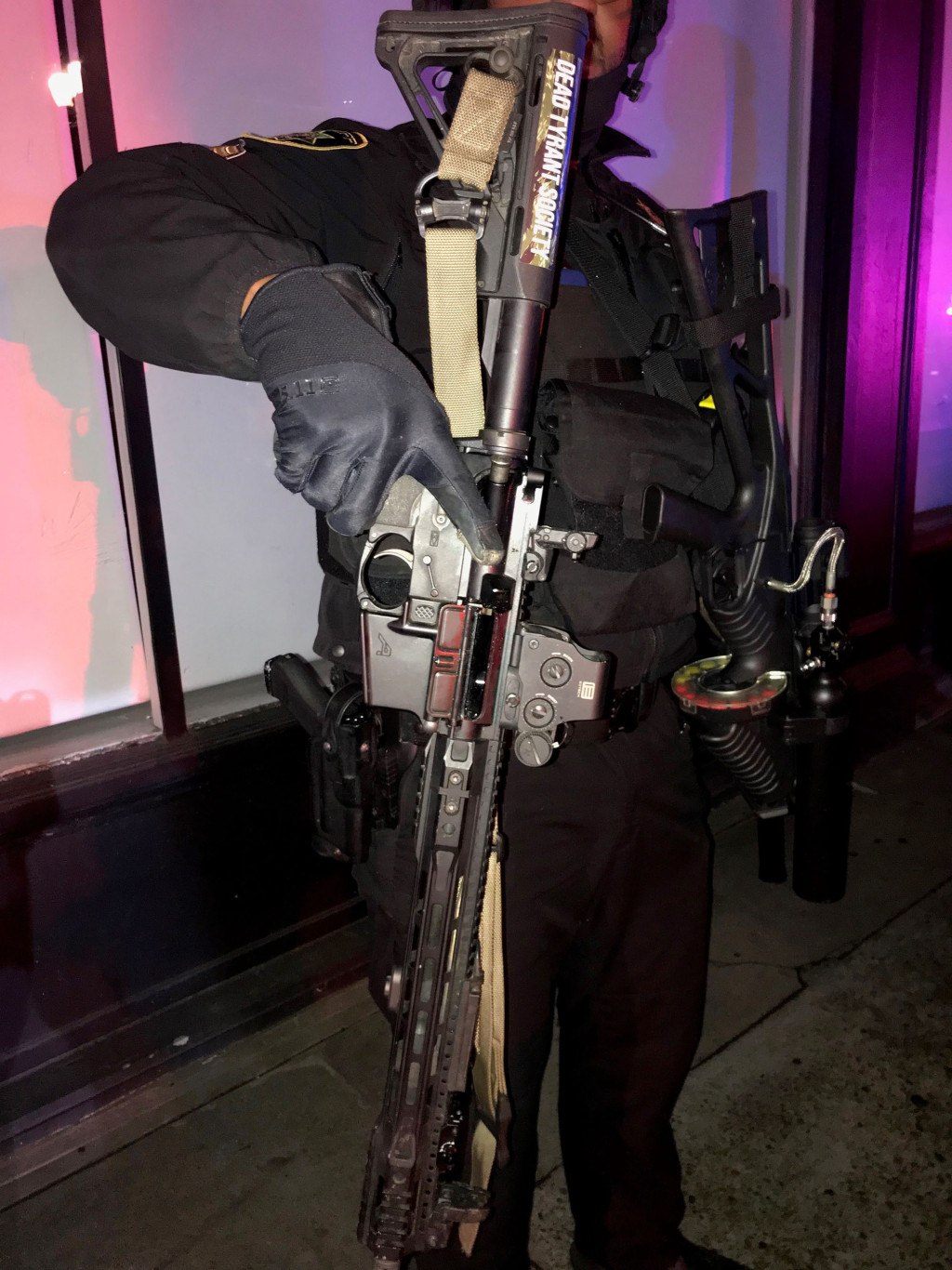 Loaded AR-15-style rifle among weapons seized during US protests 1