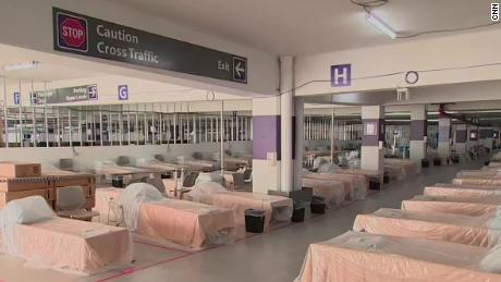 Reno hospital turned their parking garage into a new wing to treat coronavirus patients 1