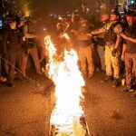 Protesters ripped and set fire to BLM signs at two DC churches 7