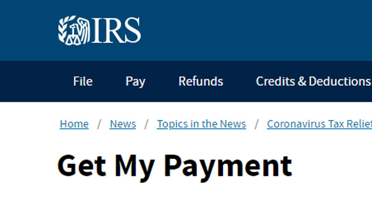 IRS relaunches Get My Payment portal for 2nd coronavirus stimulus 1