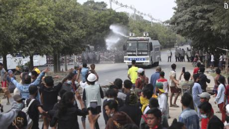 Myanmar police open fire on protesters, leaving at least two dead, reports say 1