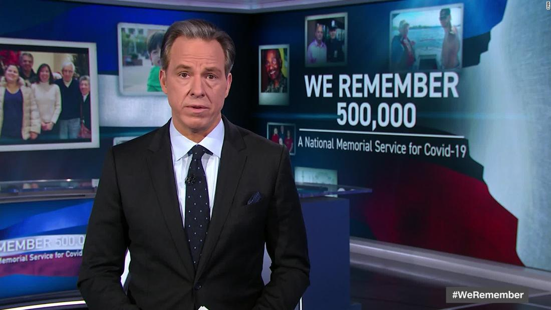 'Try to honor the loss:' Why CNN aired a national memorial service for 500,000 lives lost from Covid-19 1