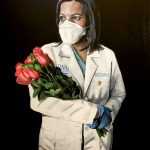 Local painter's masked portraits capture life during the coronavirus pandemic (LIVE UPDATES) 18