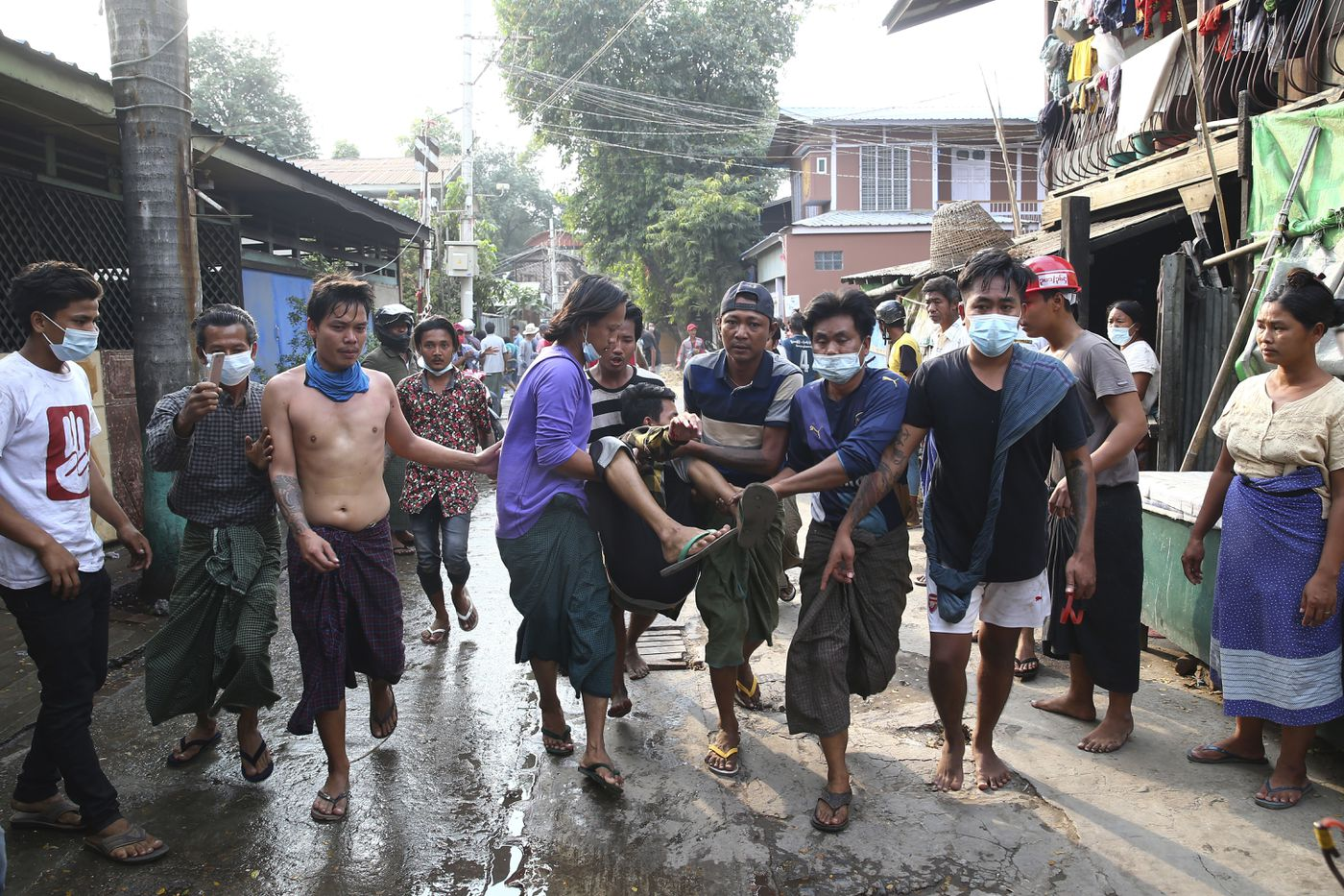 2 shot dead by Myanmar police during anti-coup protests, several injured: reports 1