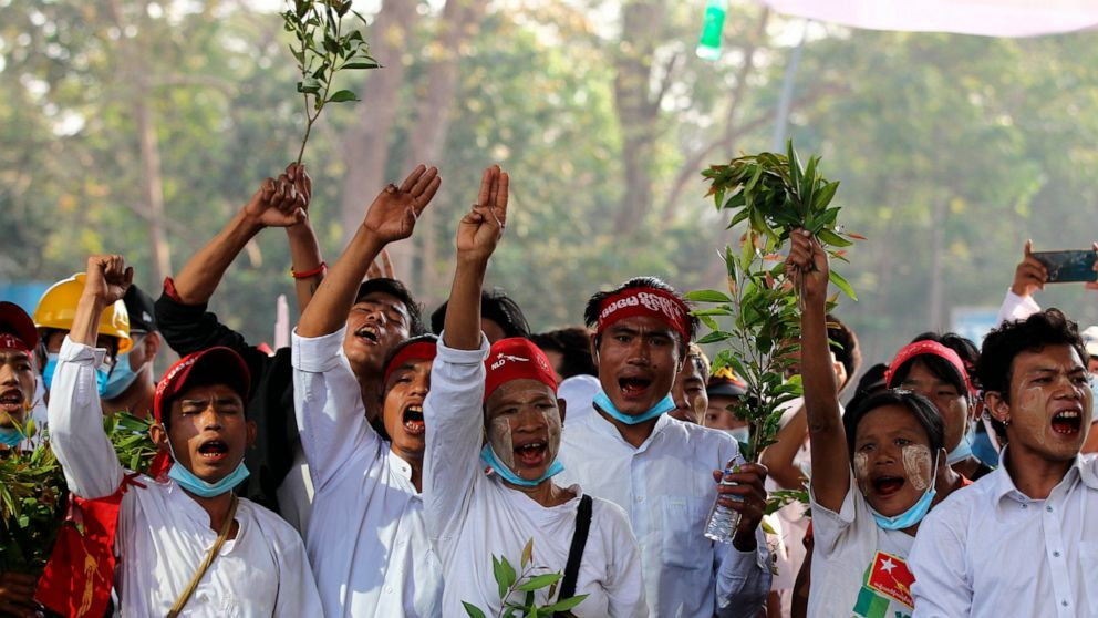 Protests swell after Myanmar junta raises specter of force 1