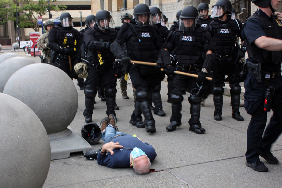 Elderly protester Martin Gugino, shoved to ground by Buffalo cops, sues the city 1