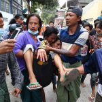 Myanmar Police Open Fire on Protesters, Killing 2 6