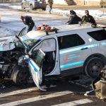 Two NYPD officers injured in collision with livery car in Brooklyn 8