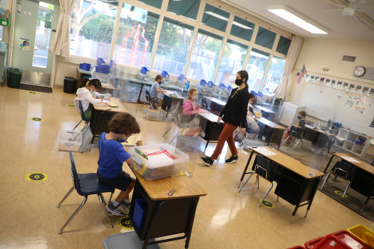COVID: Gov. Newsom pitches school reopening in Palo Alto 1