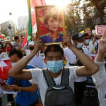 Thai marchers link their democracy cause to Myanmar protests 8