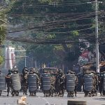 Myanmar police fire tear gas, rubber bullets at protesters 7