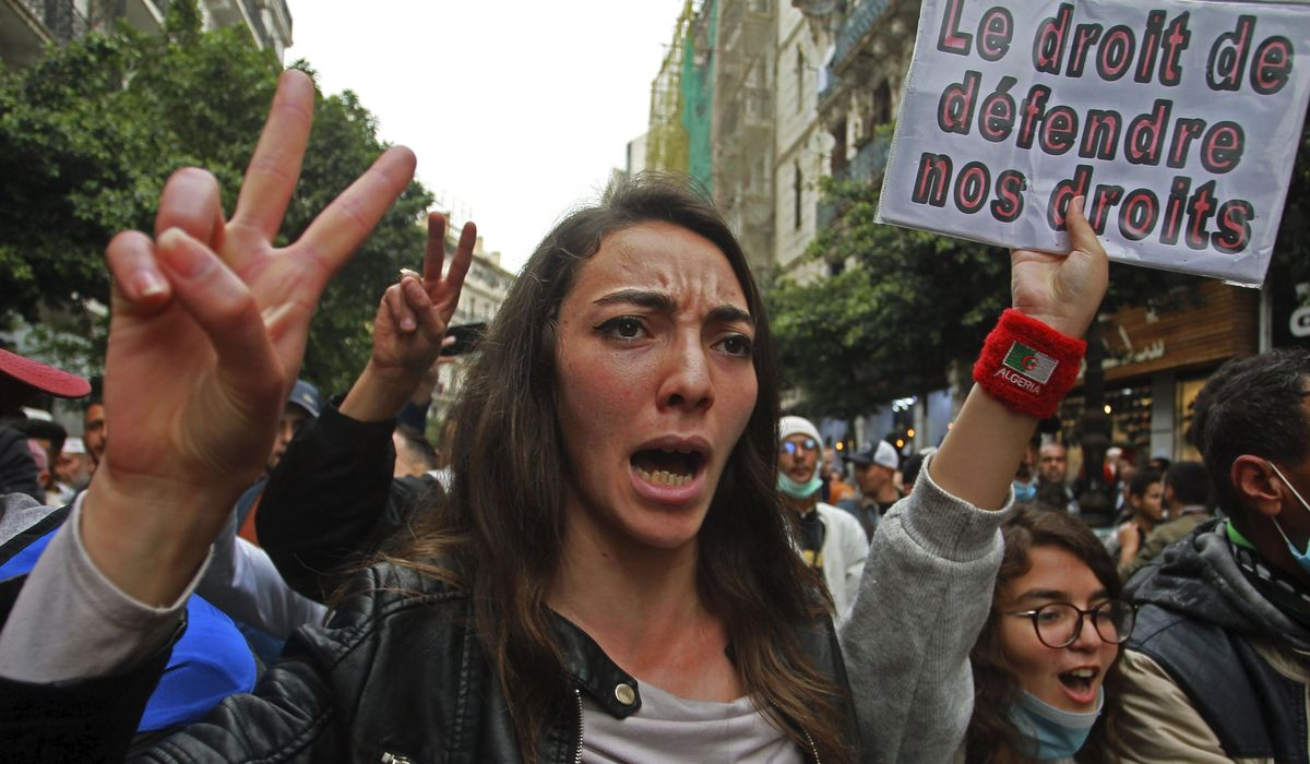Algerian students restart weekly protests cut off by virus 1