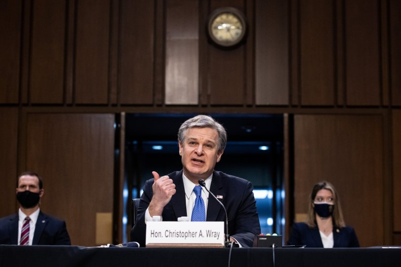 FBI Director Wray Rejects Republicans' Claims That Antifa Led Capitol Riot 1