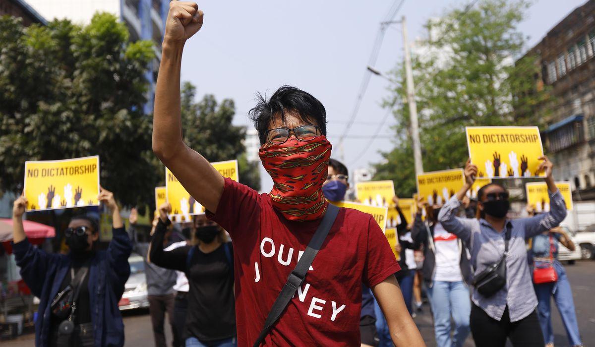 Myanmar protest deaths top 300 as US, UK, impose sanctions 1