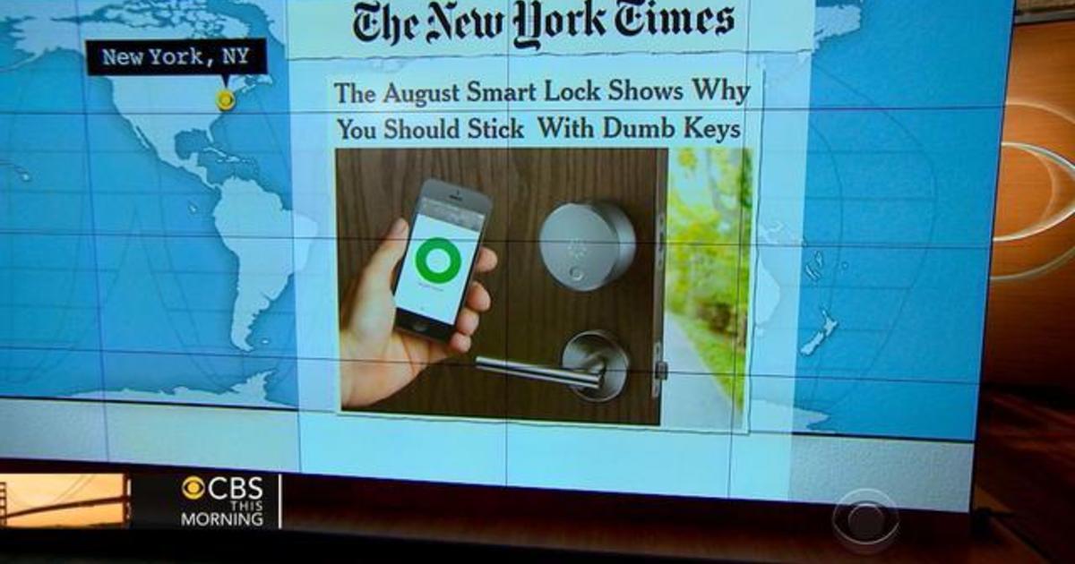 Headlines at 8:30: Smart Lock opens home doors with smartphone 1