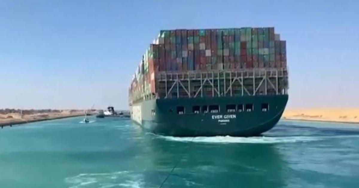 Crucial trade route reopens after massive ship freed from Suez Canal 1