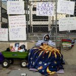 Teacher Seeks Justice for George Floyd, Chains Herself to Fence Outside Derek Chauvin Trial 7