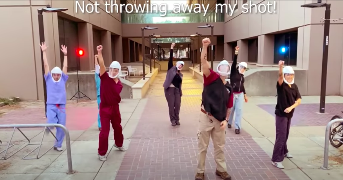 California doctor remixes 'My Shot' from 'Hamilton' in video to promote COVID-19 vaccine 1