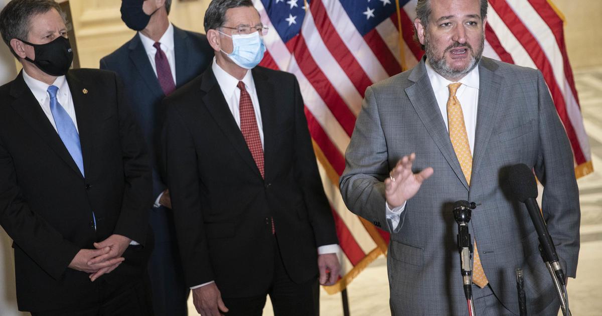 Sen. Cruz refuses to wear mask after reporter asks 1