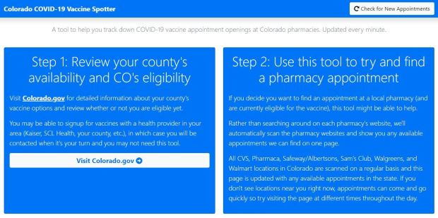 Volunteer builds website that finds Colorado COVID-19 vaccine appointments 1