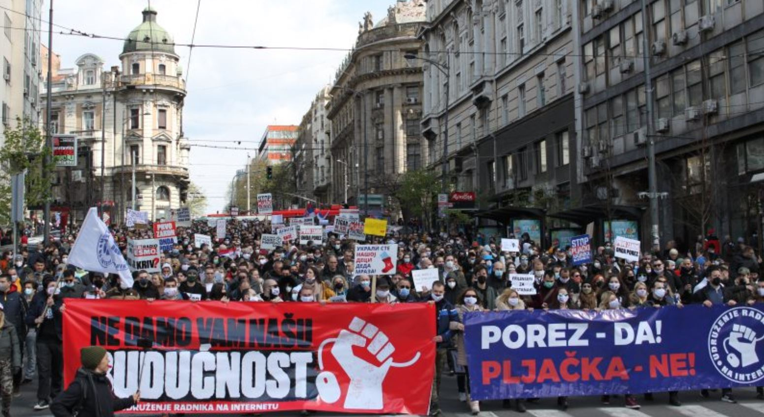 Serbian Freelancers Protest New Retroactive Tax That Threatens To Push Thousands Into Poverty 1