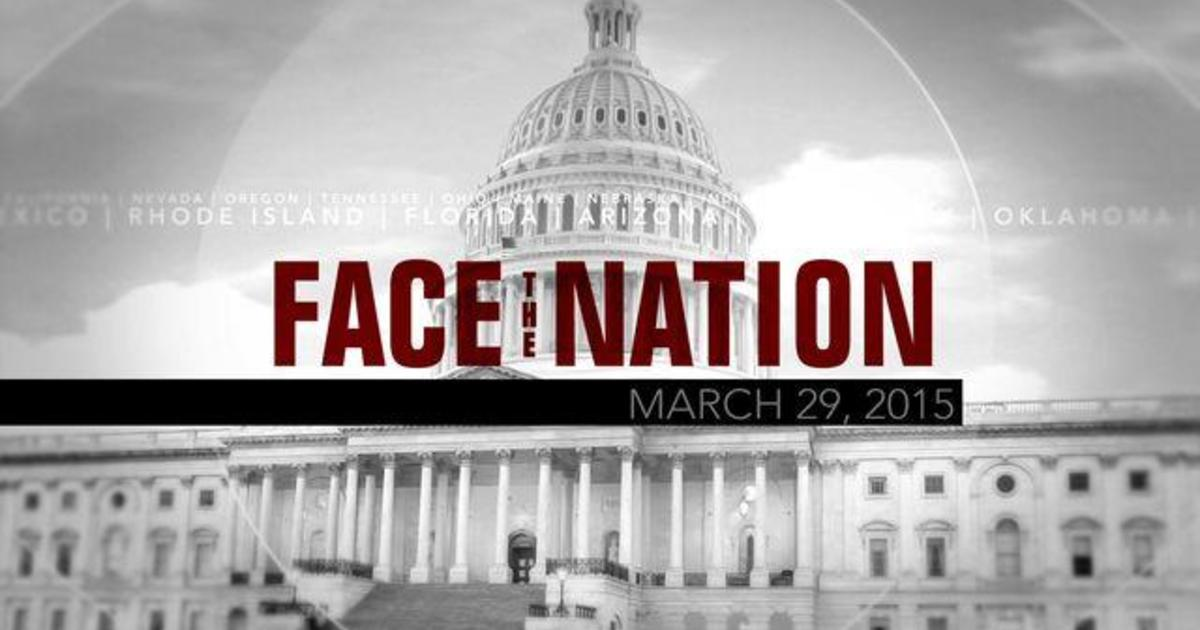 Open: This is Face the Nation, March 29 1