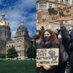 BREAKING: BLM Protestors, Including George Floyd's Nephew, Storm Iowa State Capitol 9