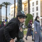 AP PHOTOS: Moroccan mimics Charlie Chaplin to mask hardships 5