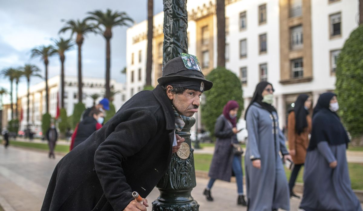 AP PHOTOS: Moroccan mimics Charlie Chaplin to mask hardships 1