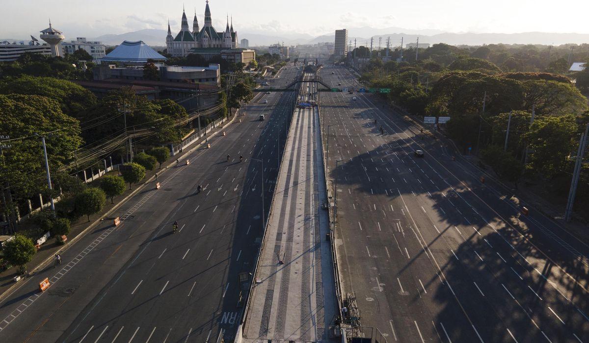Good Friday and virus lockdown empty Manila's streets 1