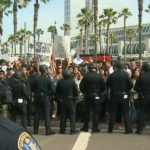 Watch: Anti-Trump protesters clash with supporters in San Diego 20