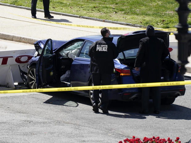 Police officer dies after suspect rams car into Capitol barricade 1