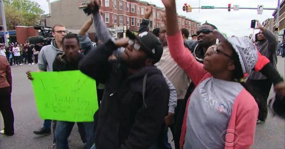 Baltimore erupts in cheers after officers charged 1