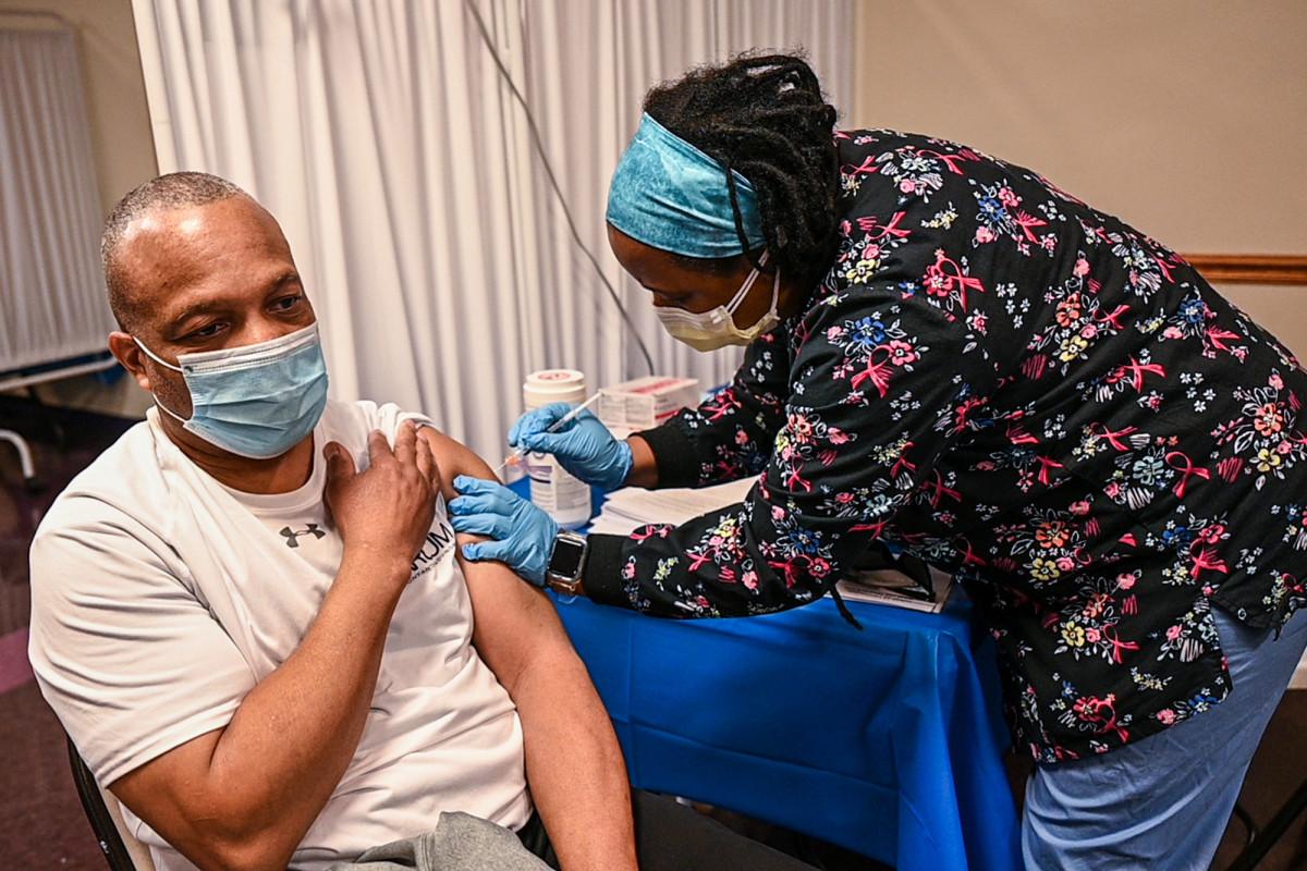 New York hits COVID-19 vaccination record 1