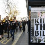 """""""10 years for protest, 5 years for rape"""": Demonstrators protest a policing bill in England and Wales 5"""