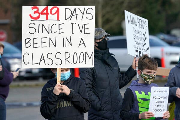 Fed Up With Remote Learning, Governors Make a Push to Reopen Schools 1