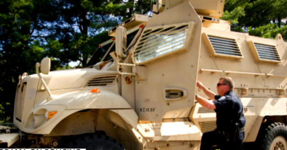 President Obama restricts military equipment for police officers 1