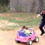 "Officer dad pulls over kids for being ""too cute"" 7"