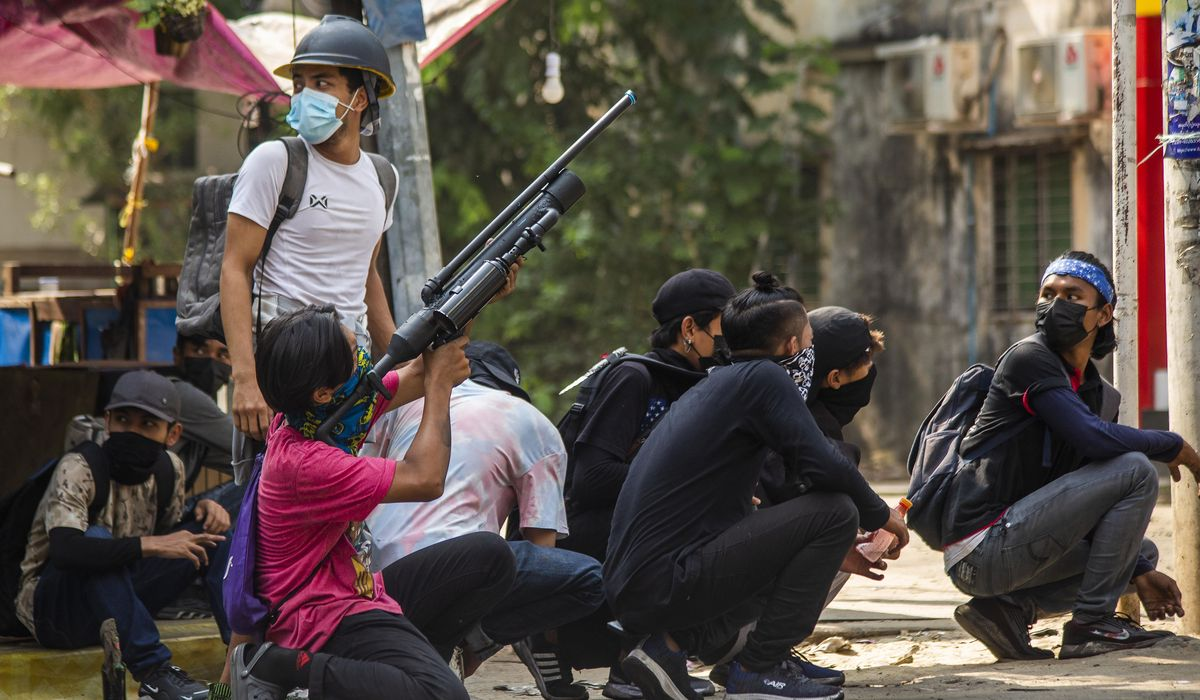Myanmar anti-coup protesters launch 'Easter egg strike' 1