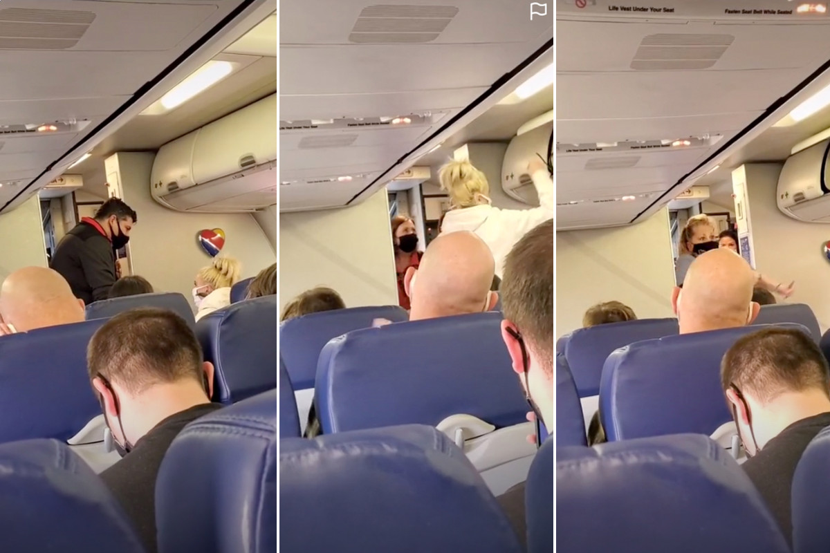 Southwest Airline passengers applaud when woman is kicked off after mask dispute 1
