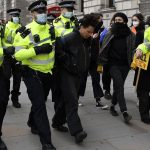 UK arrests over 100 in protests against policing bill 3