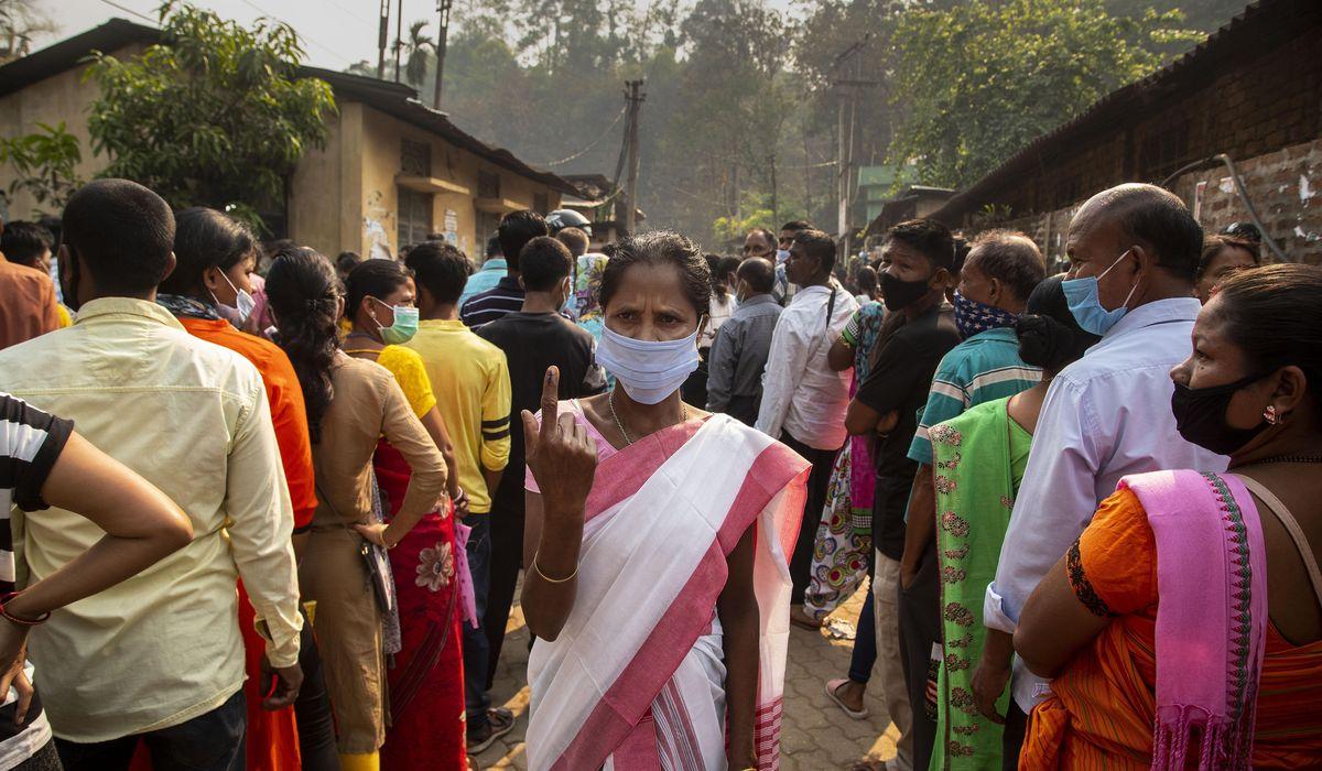 Indian states vote amid latest surge in coronavirus cases 1
