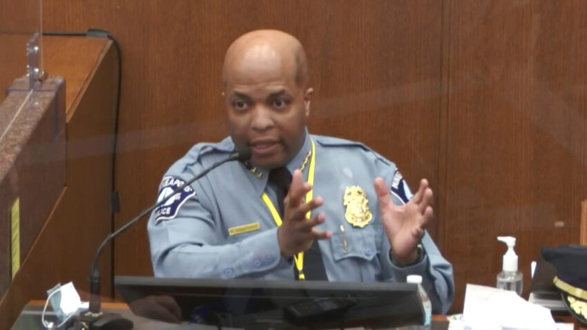 Minneapolis police chief: Kneeling on George Floyd's neck violated policy 1