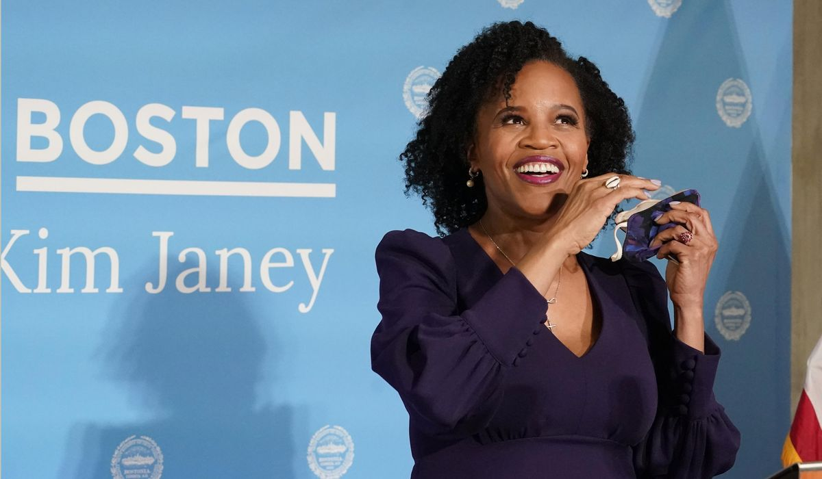 Acting Boston Mayor Kim Janey announces candidacy for office 1