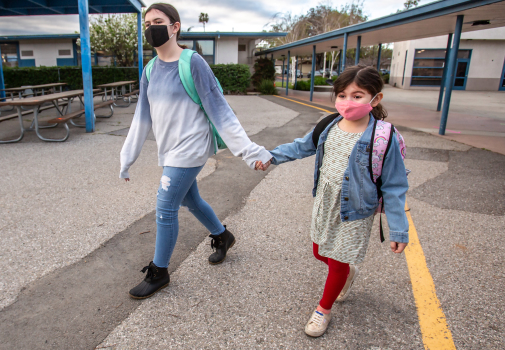 Cupertino Union students go back to class part time 1