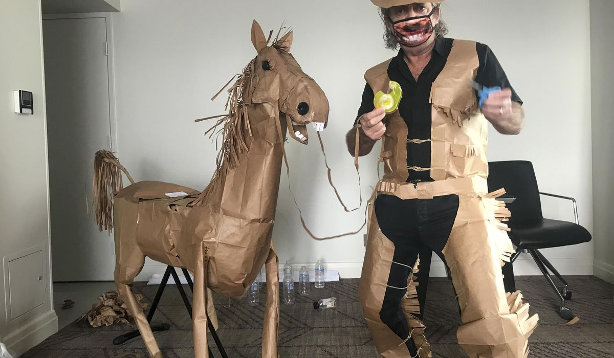 A paper cowboy rides out his quarantine in Australian hotel 1