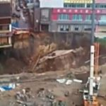Caught on camera: Huge sinkhole opens 3