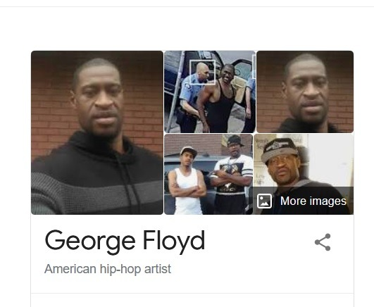 Google Search Lists George Floyd As 'American hip-hop artist,' Features His Songs About Drug Abuse 1