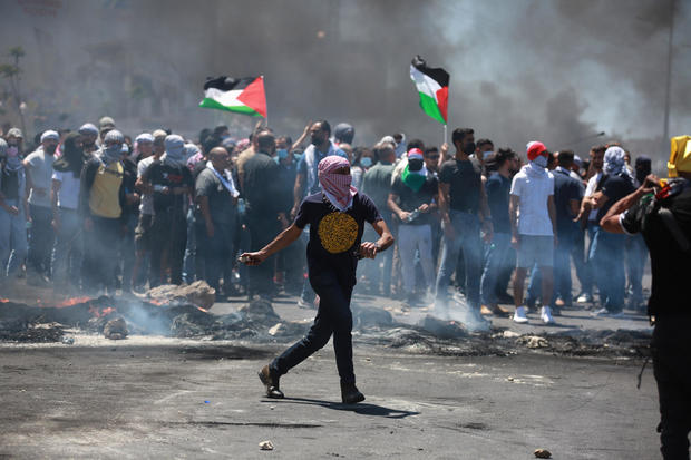 """Palestinians protest in """"day of rage"""" in West Bank and Jerusalem 1"""