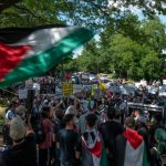 Protesters Rally in Solidarity With Palestinians at Israel's U.S. Embassy, Consulates 2